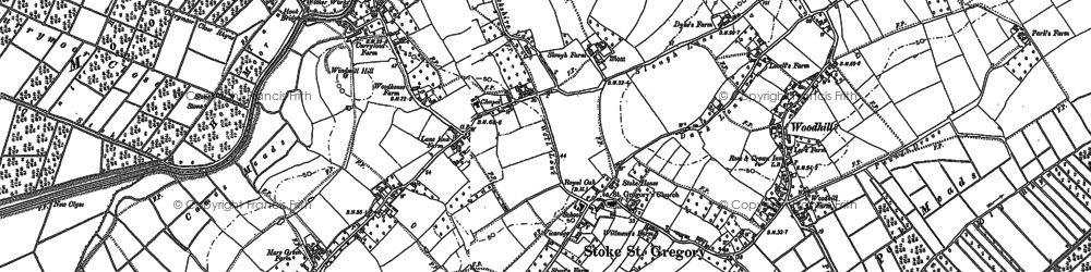 Old map of Woodhill in 1886