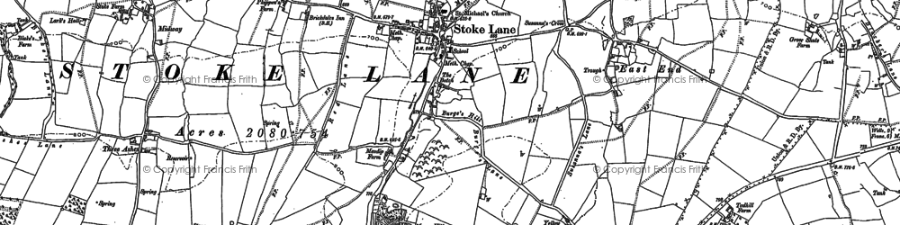 Old map of Stoke St Michael in 1884