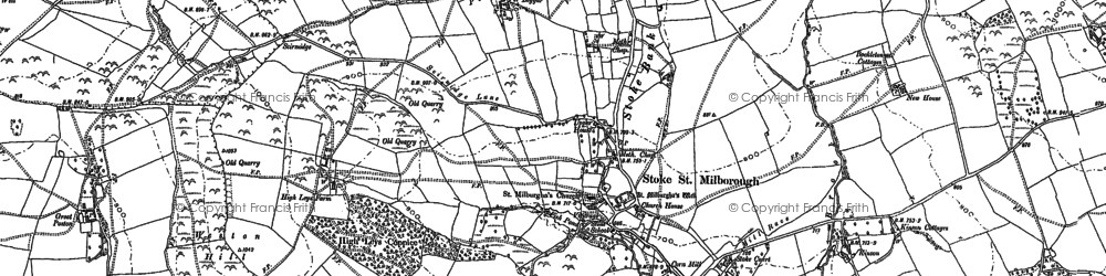 Old map of Yeld, The in 1883