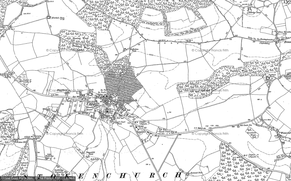 Old Map of Stokenchurch, 1897 - 1919 in 1897