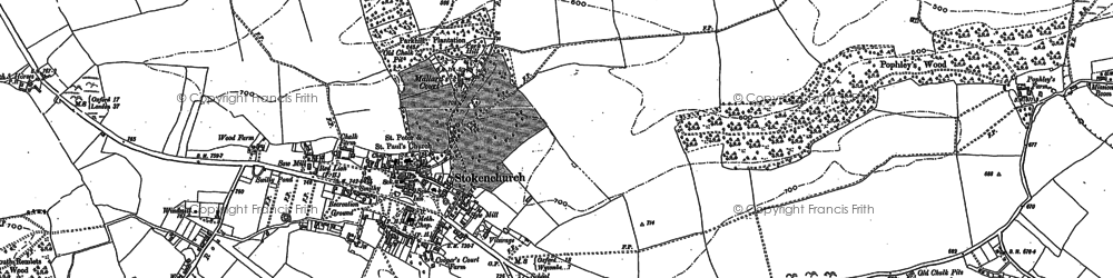 Old map of Stokenchurch in 1897