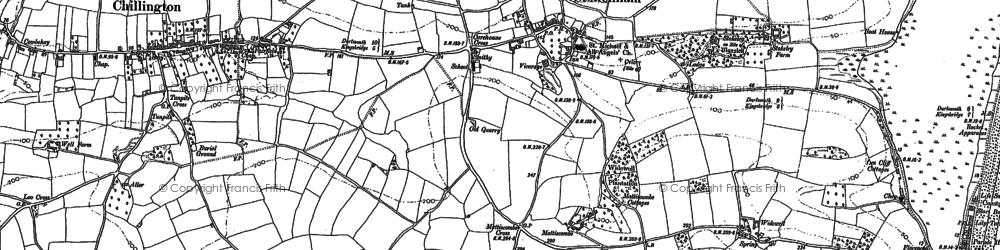 Old map of Stokenham in 1905