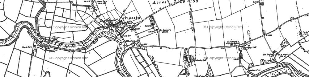 Old map of Winsford Hall in 1884