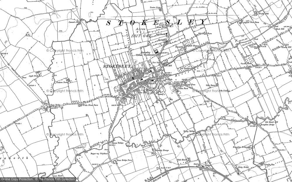Old Map of Historic Map covering Leven Mouth in 1893