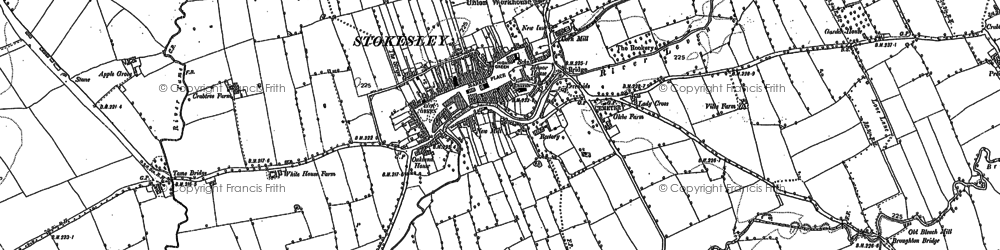 Old map of Stokesley in 1893