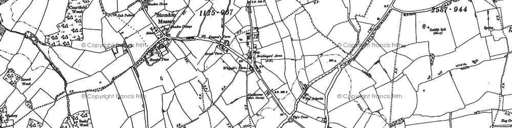 Old map of Tip's Cross in 1895