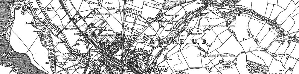 Old map of Stone in 1879
