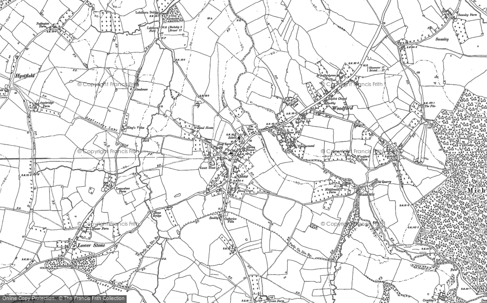 Old Map of Stone, 1879 - 1882 in 1879