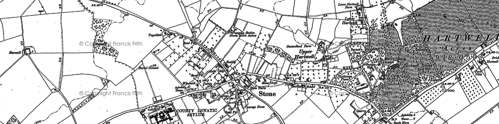 Old map of Alwyn Lawn Ho in 1897