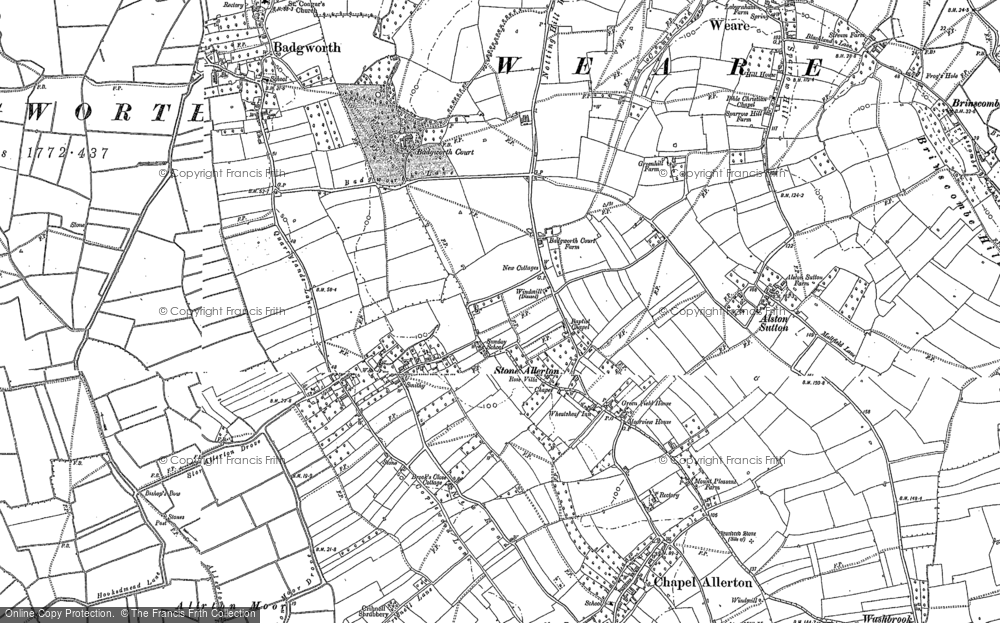 Old Map of Stone Allerton, 1884 in 1884