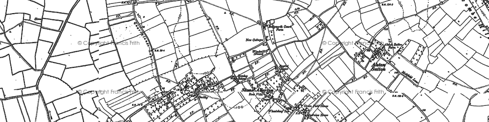 Old map of Allerton Moor in 1884