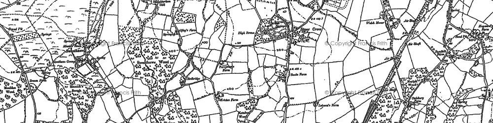 Old map of Alderbrook in 1897