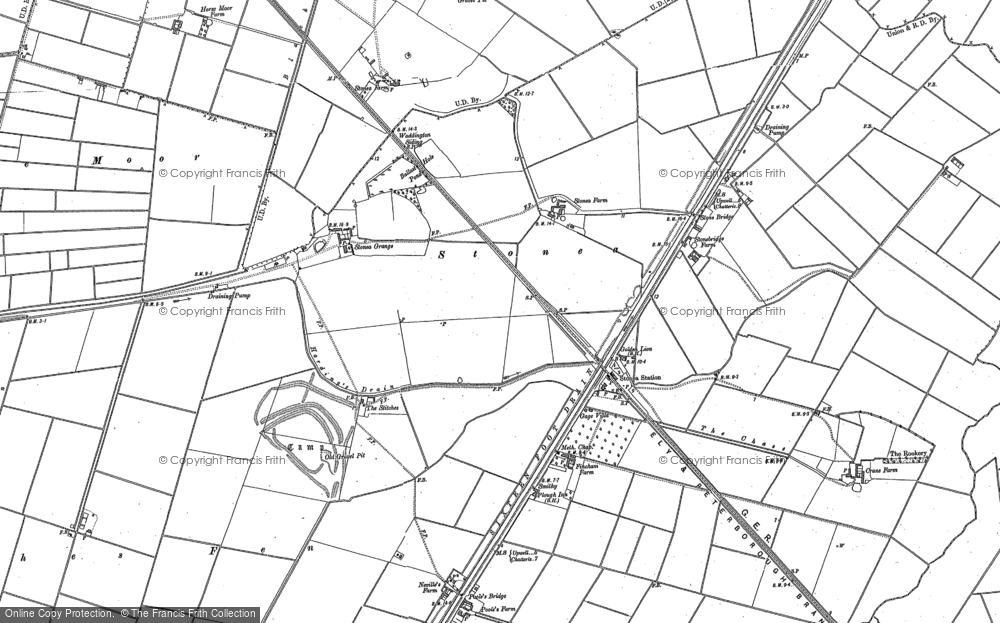 Old Map of Historic Map covering Latches Fen in 1886