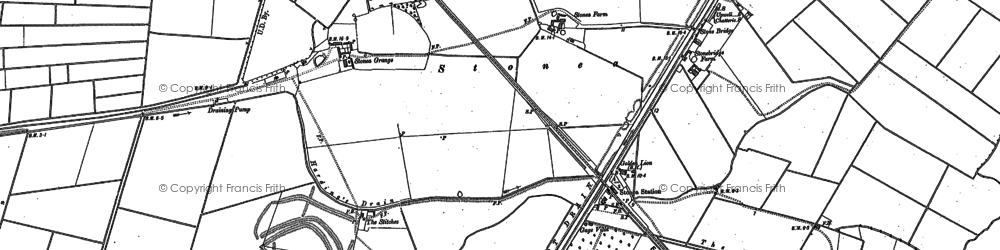 Old map of Latches Fen in 1886