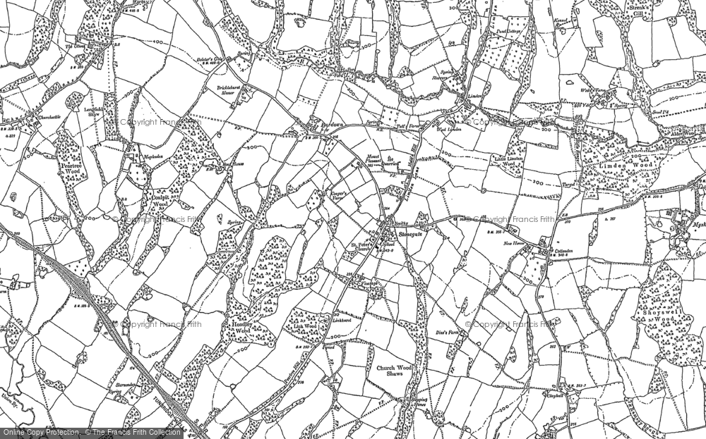 Old Map of Stonegate, 1897 - 1908 in 1897