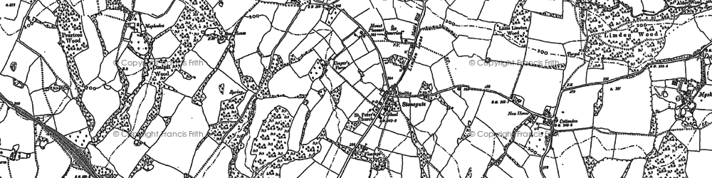 Old map of Stonegate in 1897