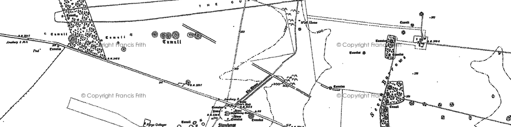 Old map of Stonehenge in 1889