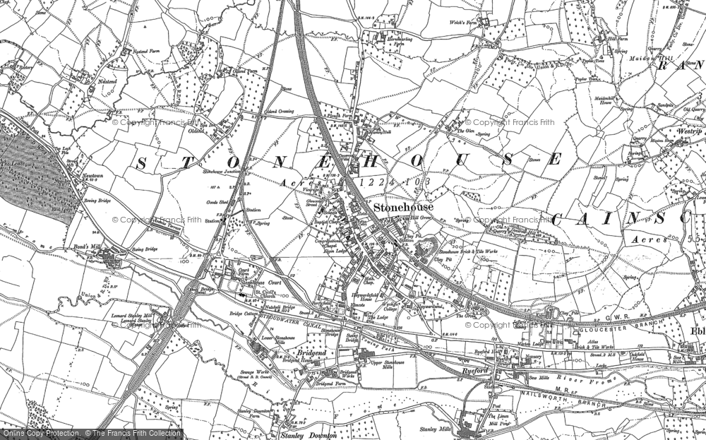 Old Map of Stonehouse, 1882 in 1882
