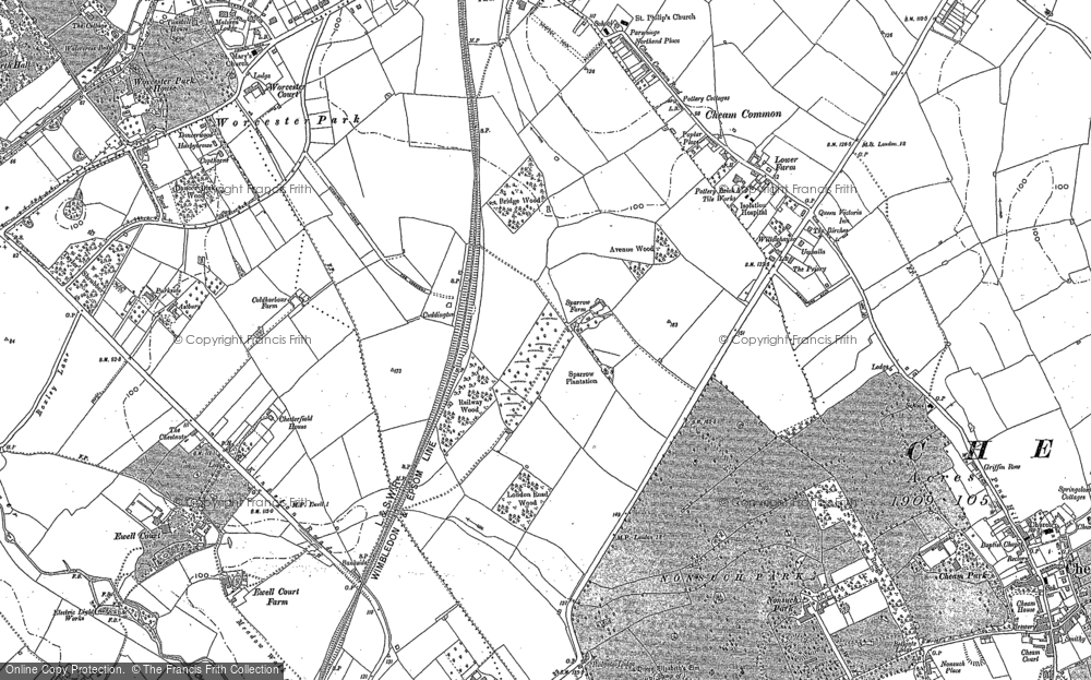 Old Map of Stoneleigh, 1894 in 1894