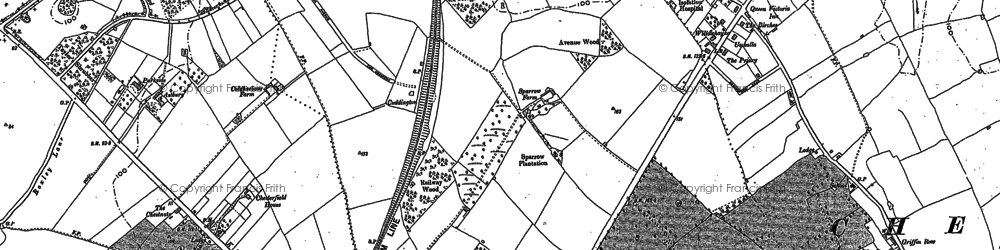 Old map of Stoneleigh in 1894