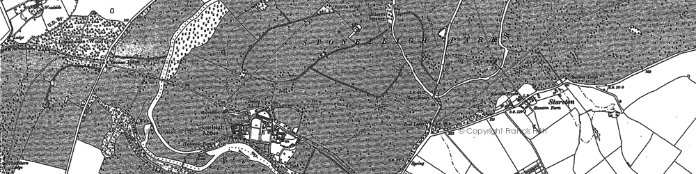 Old map of Westley Br in 1886