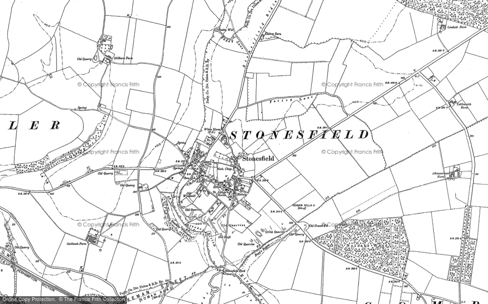 Old Map of Historic Map covering Ash Copse in 1898