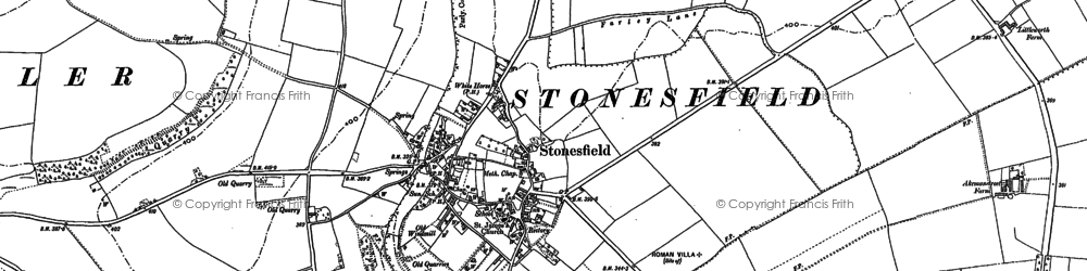 Old map of Ash Copse in 1898