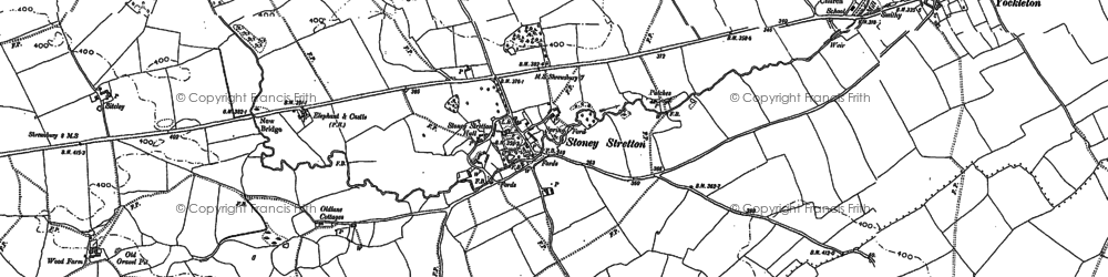 Old map of Wigley in 1881