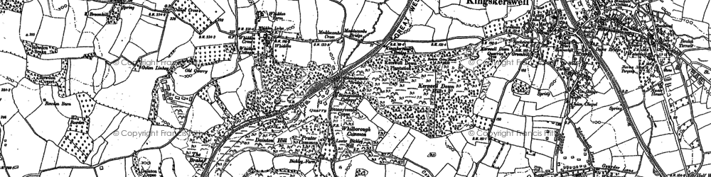 Old map of Whiddon in 1886
