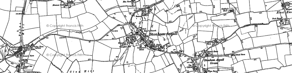 Old map of Whin Plantn in 1884