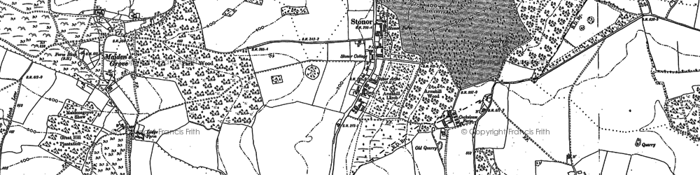 Old map of Balham's Wood in 1897