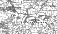 Old Map of Stony Cross, 1886