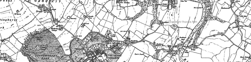 Old map of Woodfields in 1892