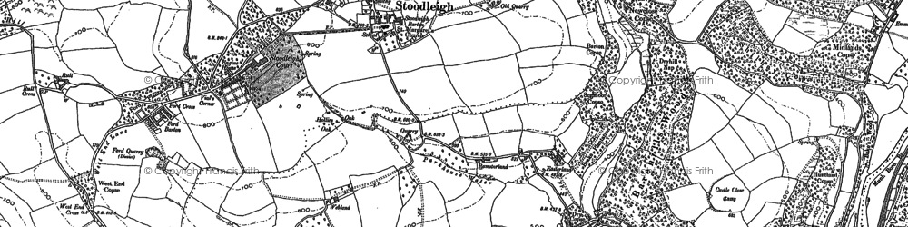 Old map of Wheatland in 1887