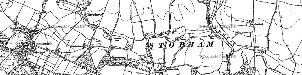 Old map of Stopham Ho in 1896