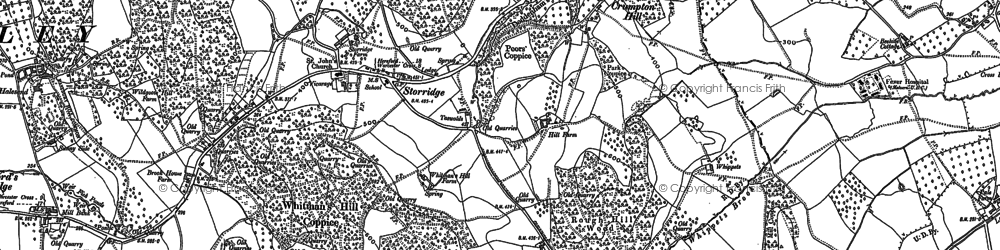 Old map of Whitman's Hill Coppice in 1903