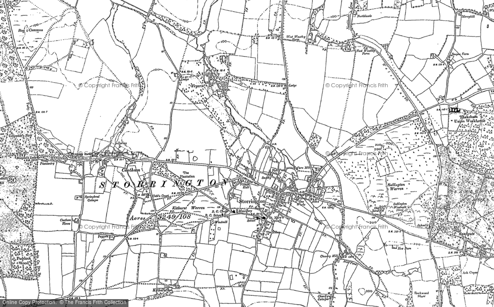 Old Map of Historic Map covering Abbots Leigh in 1896