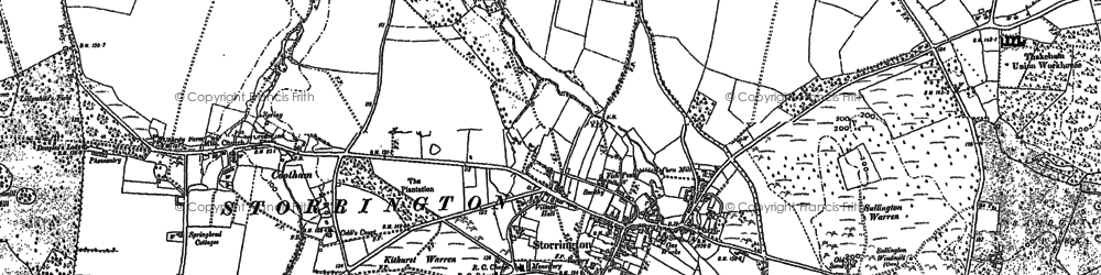 Old map of Storrington in 1896