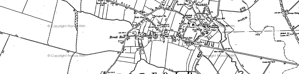 Old map of Astwick in 1900