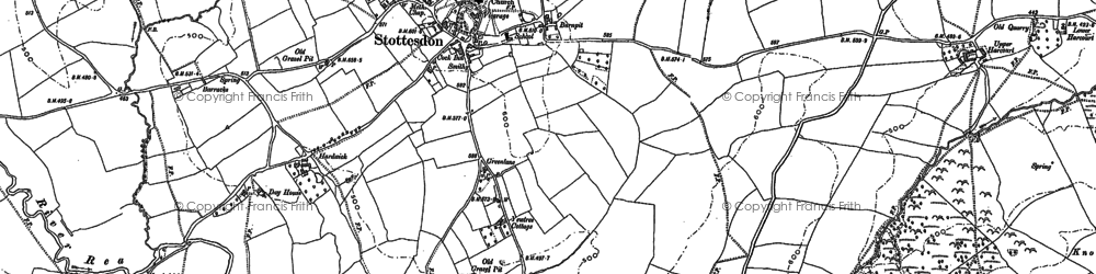 Old map of Bagginswood in 1883