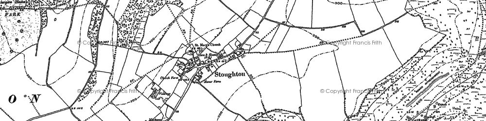 Old map of Stoughton in 1896