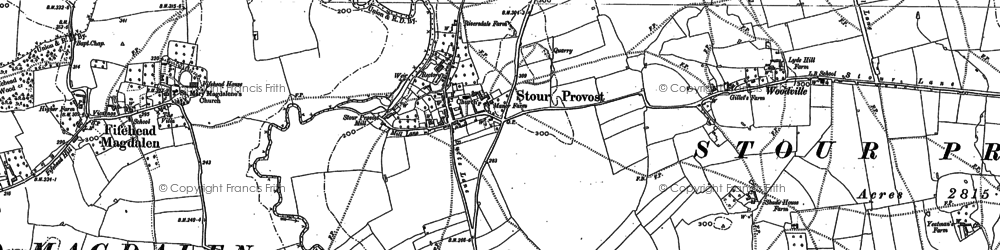 Old map of Woodville in 1900