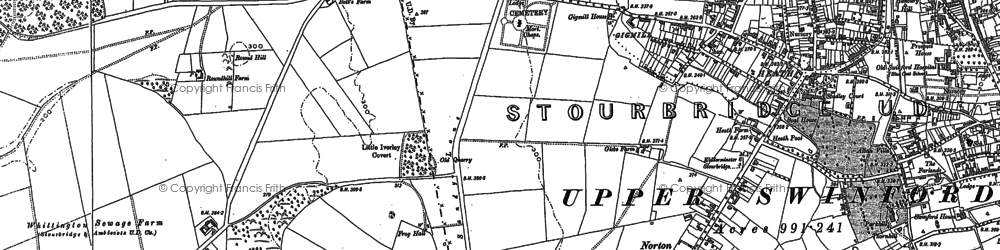 Old map of Stourbridge in 1901