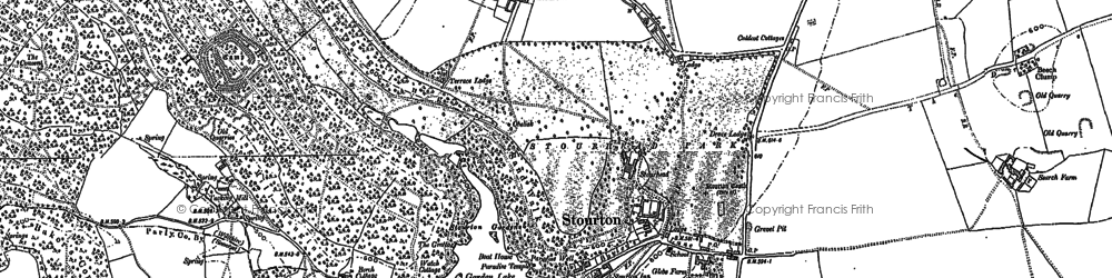 Old map of Stourhead in 1900