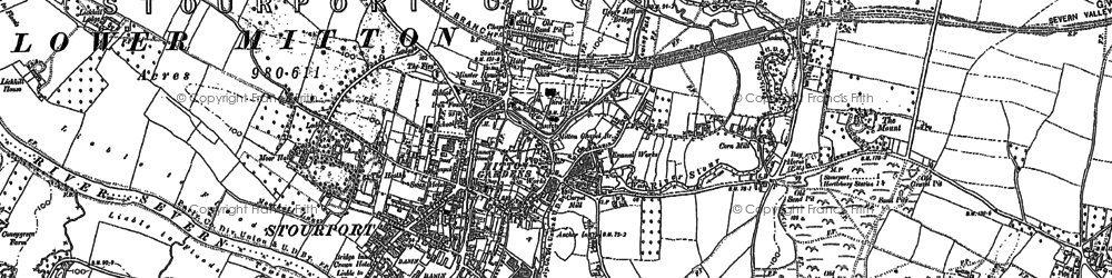 Old map of Wilden in 1883