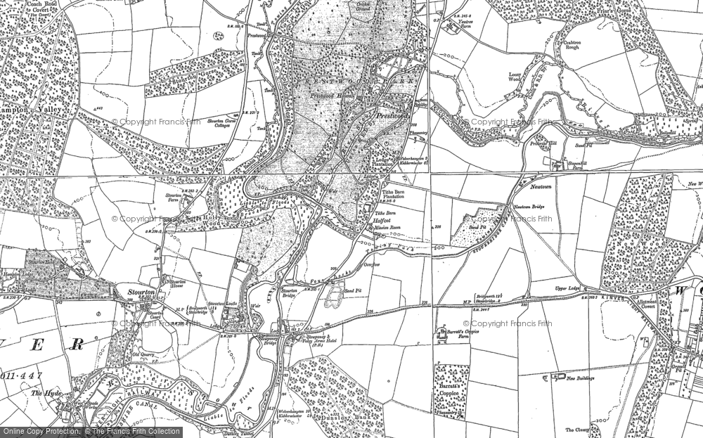 Old Map of Historic Map covering Lawns Wood in 1901