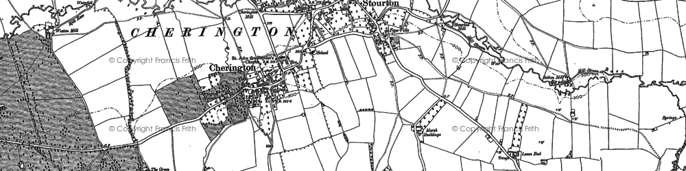 Old map of Whichford Mill in 1904