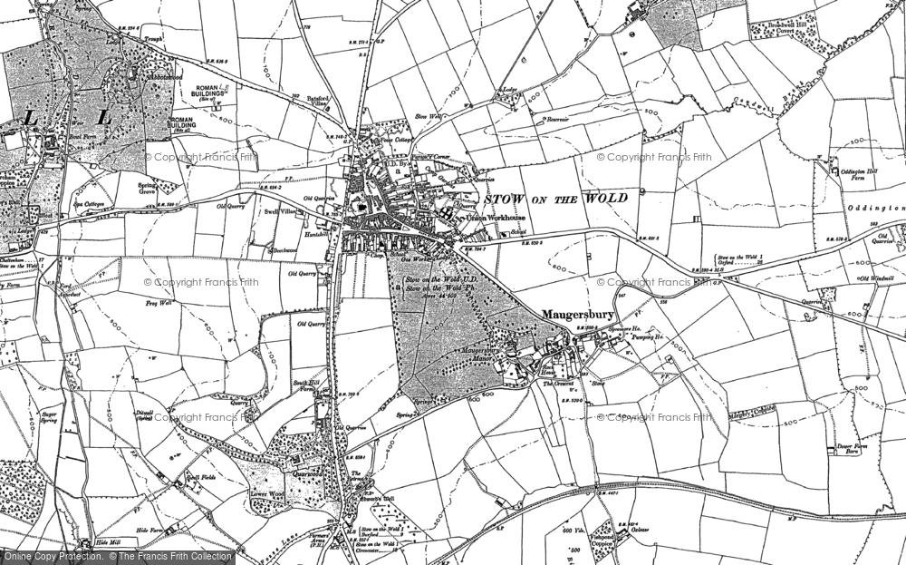 Old Map of Historic Map covering Abbotswood in 1900