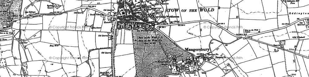 Old map of Abbotswood in 1900