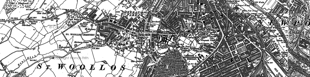 Old map of Stow Park in 1900